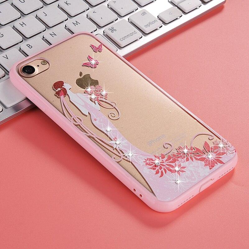 Diosa de la moda de alta calidad de kawaii teléfono case para apple iphone 7 dia