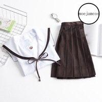 3 Kleur Japanse Klassieke Lange mouwen Sailor Uniformen Witte Kraag Japan Hoge Schooluniform Cosplay Sexy Leuke Meisje Nieuwe