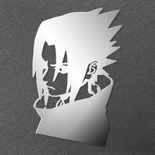 Anime Naruto Stickers Metal Sticker Personalized Mobile Phone Sasuke Itachi Uchiha Gaara Sakura Haruno Toys