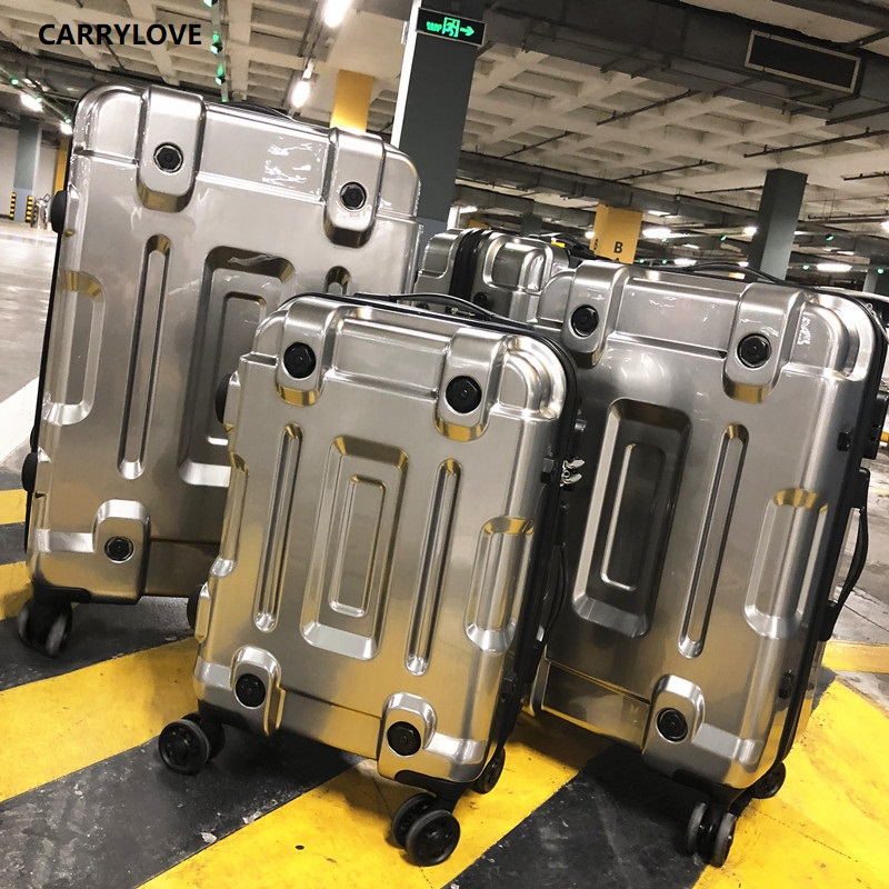 CARRYLOVE  High Quality Luggage 20/24/26/29 Size Space Gold PC Rolling Luggage Spinner Brand Travel Suitcase