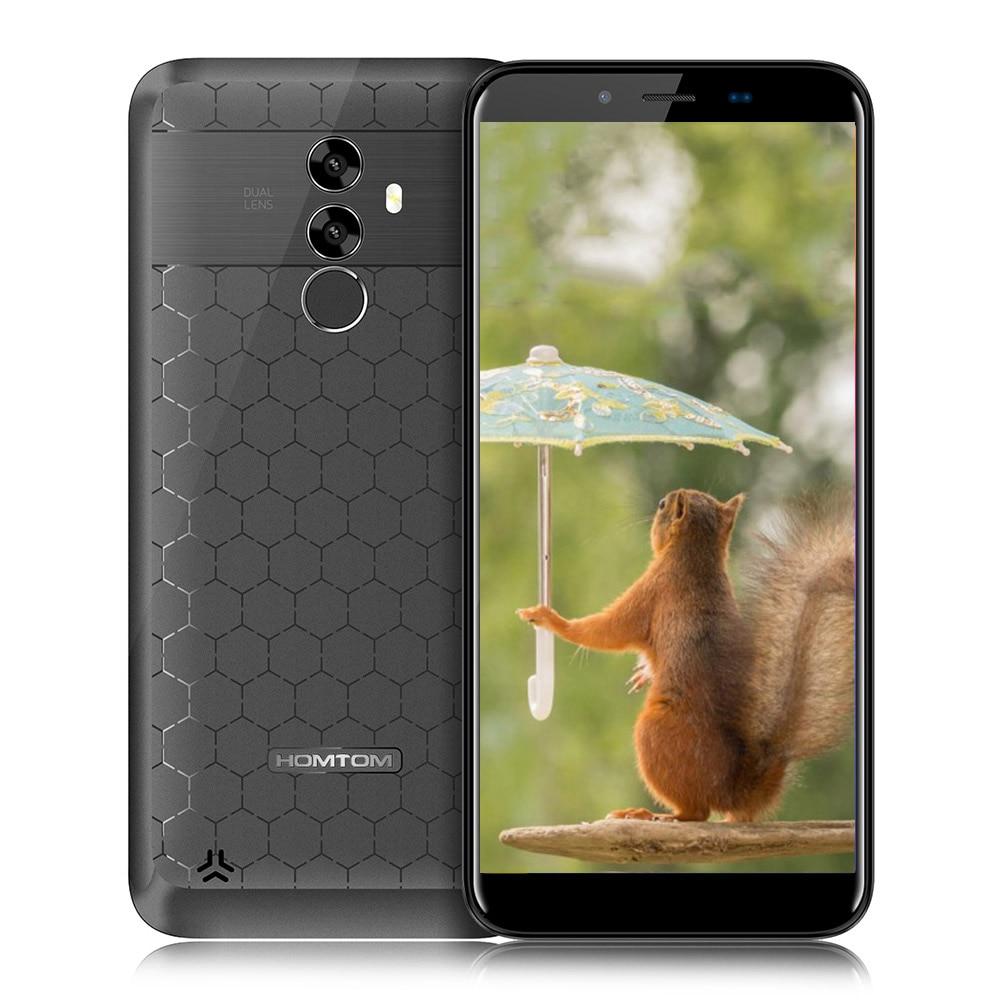 HOMTOM S99 4G 6200mAh Mobile Phone Android 8.0 5.5 MTK6750 Octa Core 21MP+2MP Dual Rear Cams 4GB+64GB Fingerprint OTG Cellphone