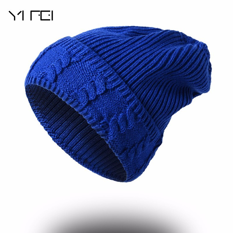 YIFEI 2017 Knitted Hats For Men Winter Hat Boy Beanie Caps Bone Skullies Men Beanies Warm Bonnet Boy Winter Cap Gorro Masculino hot sale winter cap women knitted wool beanie caps men bone skullies women warm beanies hats unisex casual hat gorro feminino
