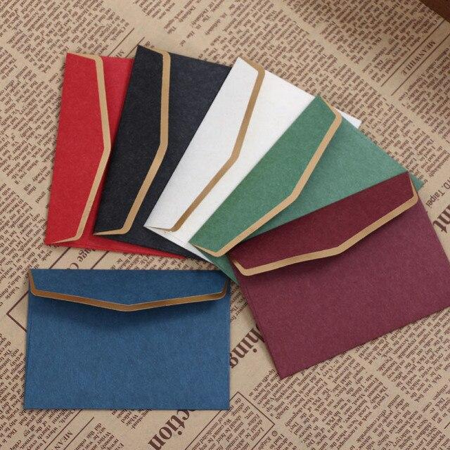 vivid vintage bronzing paper envelope 10x7cm high end business