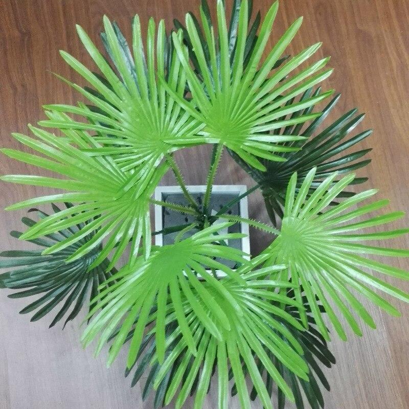 10 pcs ensemble nouveau vert r aliste artificielle feuille de palmier branche beaut faux. Black Bedroom Furniture Sets. Home Design Ideas