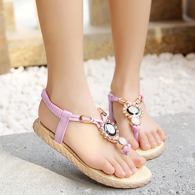 Summer Sandals For Children Sandals For Girls Rhinestone Sandals For Children Flip-flops Soft Soles And Anti-skid Sandals