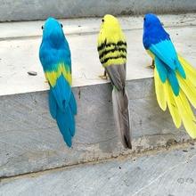 about 18cm simulation feathers bird foam&feathers parrot handicraft home garden decoration gift p0178