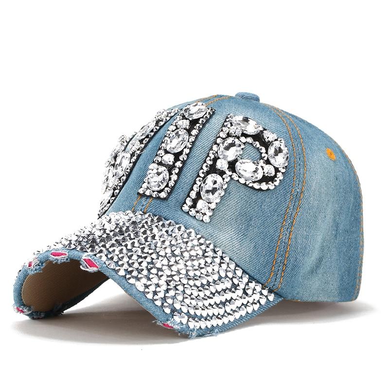 Compra wholesale rhinestone jeans cap y disfruta del envío gratuito en  AliExpress.com e0e46273ee5