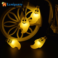 LumiParty 30LED Solar String Lights Halloween Light Outdoor Ghost Christmas Lights Outdoor Halloween Decoration Outdoor