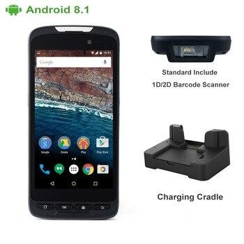 Подключается к сети 4G IP65 прочный Беспроводной NFC читатель ручной 1D сканер штрих-кода с пистолет колыбели телефона Android PDA с Бесплатный SDK