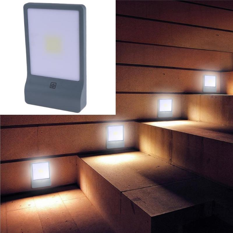 LED Wall Lamp Mini COB LED Wireless Magnetic Touch Light Battery Powered Emergency Wardrobe Cabinet Bedroom Night Lamp