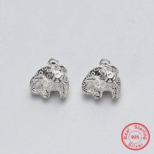 Uqbing винтажный 12*12*8 мм тайский слон 100% Стерлинговое Серебро