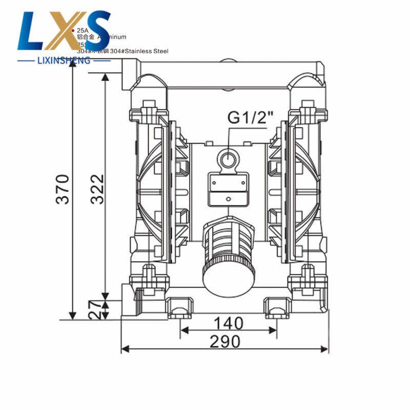 BML-20 PTFE воздушный насос с двойной диафрагмой 54 л/мин пневматический мембранный насос