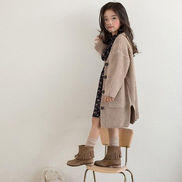 детская одежда для девочек 11 12 лет длинное вязаное пальто для