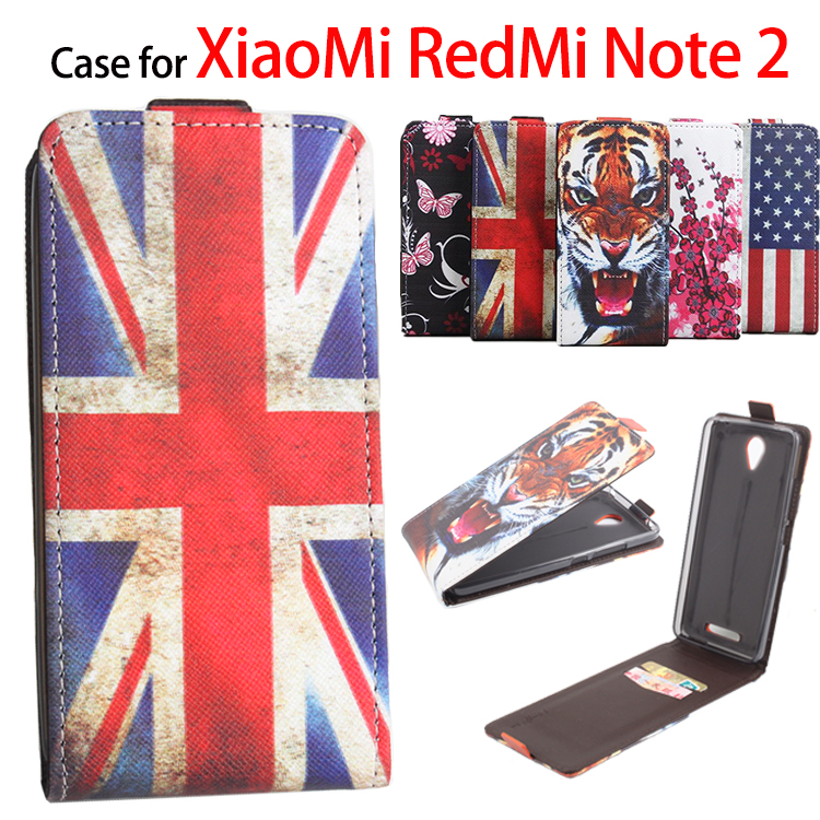 100% High Quality Leather Case For XiaoMi RedMi Note 2 Flip Cover Case For XiaoMi Hongmi Note2 Leather Cover Mobile Phone Cases