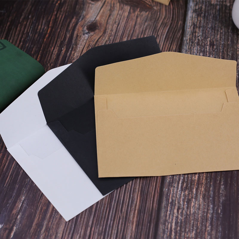 DELVTCH 30pcs set Black White Craft Paper Envelopes Vintage Retro Style Envelope For Office School Card Scrapbooking Gift in Paper Envelopes from Office School Supplies