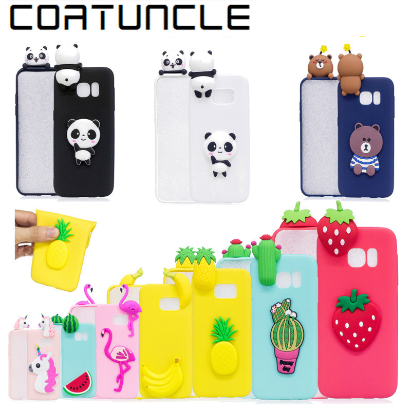 COATUNCLE Soft TPU Phone Case sFor Samsung galaxy S6 3D Silicon Dolls Toys Cute Cartoon Cover For coque Samsung S6 edge Case ...