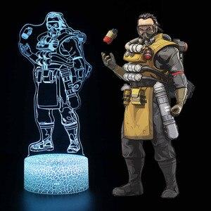 Image 5 - Sáng đồ chơi 3D ảo ảnh Đèn Led Apex Truyền Thuyết Mirage Hành Động Hình Đèn Ngủ Tấm Bảo Vệ Cho Trẻ Em Có Mặt ĐỈNH đồ chơi dành cho Game Thủ