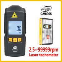 Digitale Laser Photo Tachometer Nicht Kontakt LCD Tach RPM Meter Drehen Geschwindigkeit Detektor Großen Mess GM8905-BENETECH