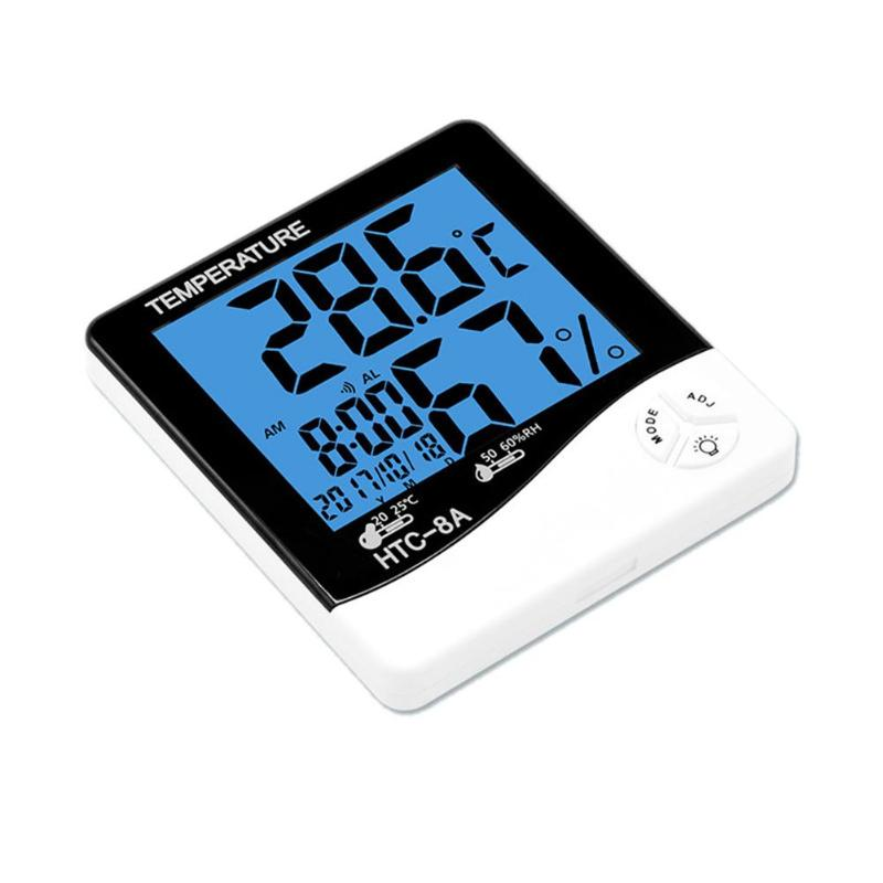 Home Indoor Temperature Measurement Digital Weather Station LCD Display Backlight Thermometer Hygrometer Alarm Clock
