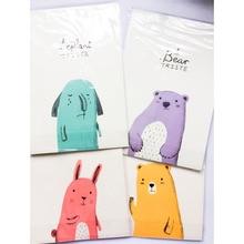 1 комплект 6 бумажный 3 конверт милый Kawaii Медведь Кролик Бумага со слоном письмо Канцелярский набор письмо поздравление сообщение на день рождения