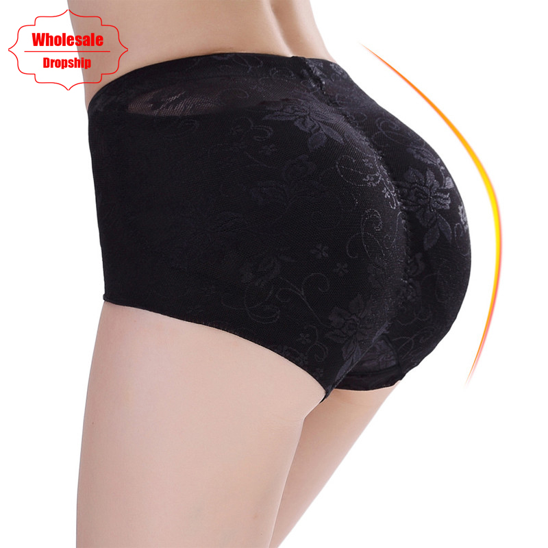 NINGMI Butt Lifter Enhancer Women Sexy Big Ass Padded Panty Seamless Lace Control Panties Booty Push Up Hip Corrective Underwear