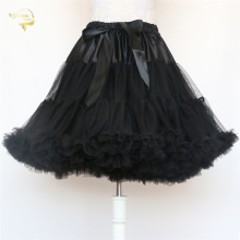Black Fashion Ball Gown Underskirt Swing Short Dress Petticoat Lolita Petticoat Ballet Tutu Skirt Rockabilly Crinoline Boneless