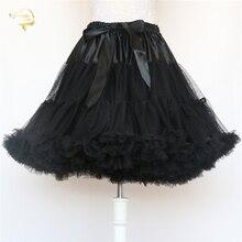Vestido corto femenino de estilo Rockabilly para verano, minivestido negro de moda para mujer, falda tutú de Ballet, crinolina, sin hueso