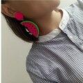 exaggeration drop earring jewelry punk  Hip Hop Acrylic Style candy big Acrylic watermelon Shape fruit Earring summer fashion