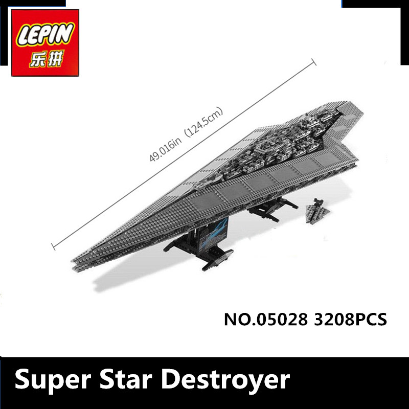 IN STOCK LEPIN 05028 3208PCS Star Wars Execytor Super Star Destroyer Model Building Kit Block Brick Toy Gift Compatible 10221 lepin 05028 3208pcs star wars building blocks imperial star destroyer model action bricks toys compatible legoed 75055