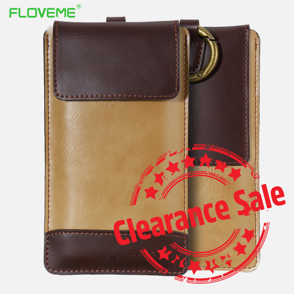 FLOVEME Universal PU Leather Case For iPhone X 8 7 6 6s Cases 4.7 Inch Universal Phone Bag Pouch For iPhone 7 8 6S 6 Back Cover