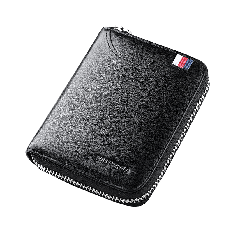 WILLIAMPOLO Mens Wallet Short Credit Card Holder Genuine Leather Organizer Mini Multi Card Case Zipper with Change Coin PurseWILLIAMPOLO Mens Wallet Short Credit Card Holder Genuine Leather Organizer Mini Multi Card Case Zipper with Change Coin Purse
