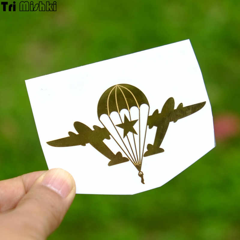 Tri Mishki HJS003# 50*80mm Airborne Forces Nickel alloy car stickers NO ONE BUT THE US metal mobile phone car sticker