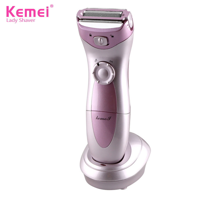 KEMEI Razor Electric Bikini Shaver Epilator Lady Shaving Wet Dry Face Body Underarm Hair Removal Female Razor Trimmer riwa epilator hair removal tools wet dry 3 in 1 floating head rechargeable electric shaver razor for women trimmer for bikini