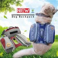Outdoor Large Dog Saddle Backpack Bag Dog Harness Multifunction Pet Dog Carrying Bags For Hiking Training