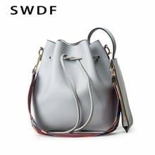 SWDF Luxury Handbags Women Bags Designer Brand Famous Shoulder Bag Female Vintage Satchel Bag Pu Leather