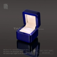 New Marriage Proposal Ring Box With Light Blue Piano Lacquer Wood Box Romantic Packing Gift Box 143 Size 6*6*58 cm A020