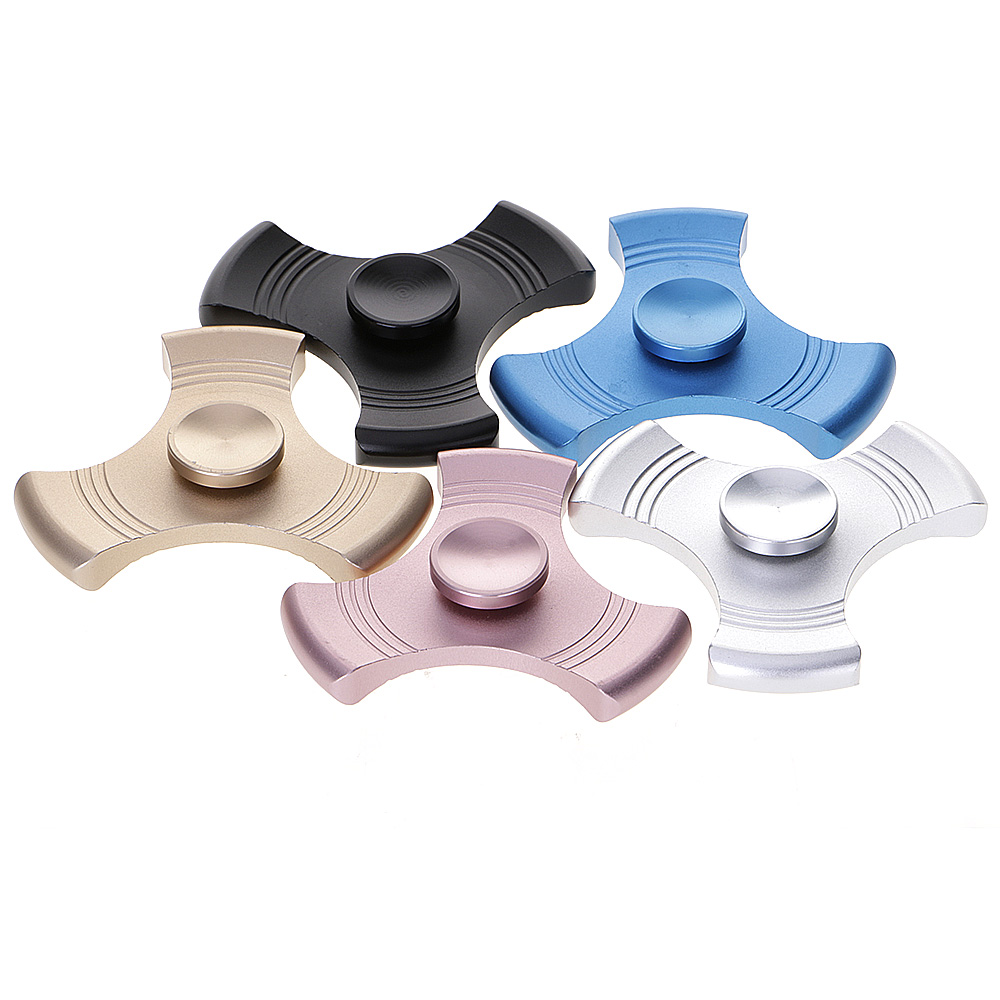 ADHD Anxiety Autism Stress Reducer Fidget Hand Tri Spinner Easy Rotating EDC Toy