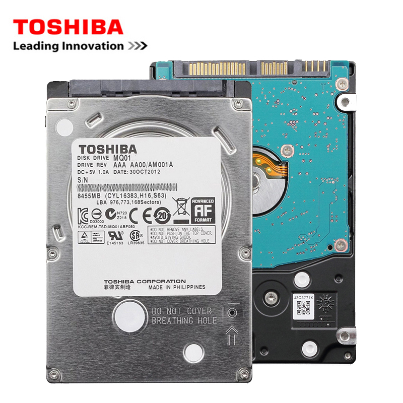 "TOSHIBA Brand Laptop PC 2.5 ""500GB SATA 3Gb-6Gb/s Notebook Internal HDD Hard Disk Drive 500G 16MB-64MB 5400RPM free shipping"