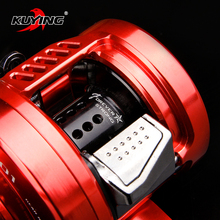 KUYING MAGICIAN 6.2:1 Metal 12+1 Bait Cast Drum Wheel 286.5g Fishing Casting Reel Vessel Saltwater Coil Centrifugal Braking