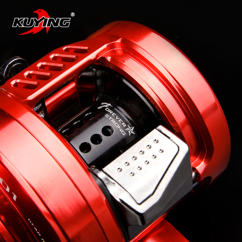 KUYING magicien 6.2: 1 métal 12 + 1 roue de tambour de fonte d'appât 286.5g pêche coulée bobine navire eau salée bobine freinage centrifuge