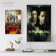 Supernatural TV Play Series Posters and Prints Wall art Decorative Picture Canvas Painting For Living Room Home Decor Unframed lips pop art design posters and prints wall art decorative picture canvas painting for living room home decor unframed