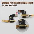 Original novo módulo de porta de carregamento micro usb dock connector com microfone mic cabo flex para sony xperia m5