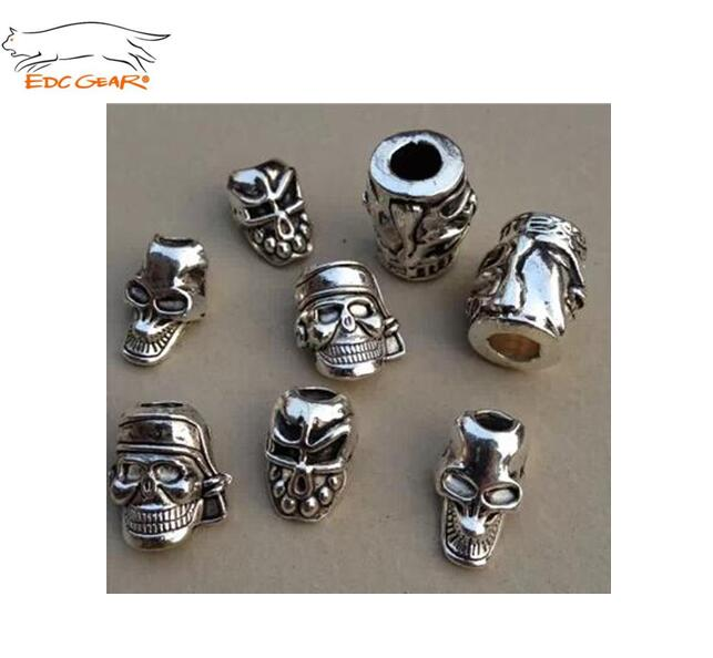 Edcgear 3pcs Paracord Bead Metal Charms Skull For Paracord