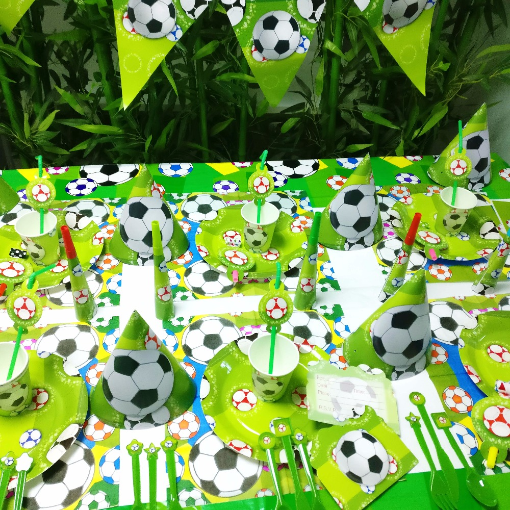 Disney Football Kids Birthday Party Decoration Disney Supplies napkins caps Cup Plate Banner Hat Straw Loot Bag Fork Disposable in Disposable Party Tableware from Home Garden
