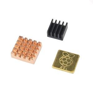 Image 3 - Raspberry Pi 3 Model B + Plus Heat Sink 1 Aluminum + 2 Copper with Logo Cooling Pad disipador Heatsink for Raspberry Pi 3 B+/3