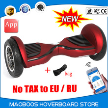 10 inch Motorized big tire self balance elecrtrio APP Hoverboard skywalker unicycle oxboard control drift patent Hover board