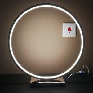 Image 5 - Nordic Kreative Kunst Deco Dimmbare LED Tisch Lampe Minimalismus Moderne Runde Schreibtisch Tisch Licht Nacht Lampe Persönlichkeit Geschenk
