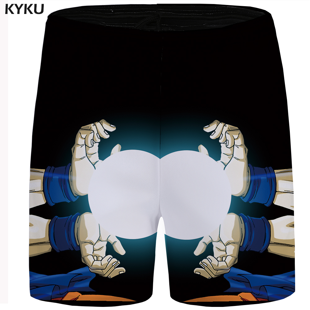 KYKU Dragon Ball Shorts Men Moon Casual Shorts Light Hawaii Black Cool Mens Short Pants 2018 New Summer Bottoms Big Size