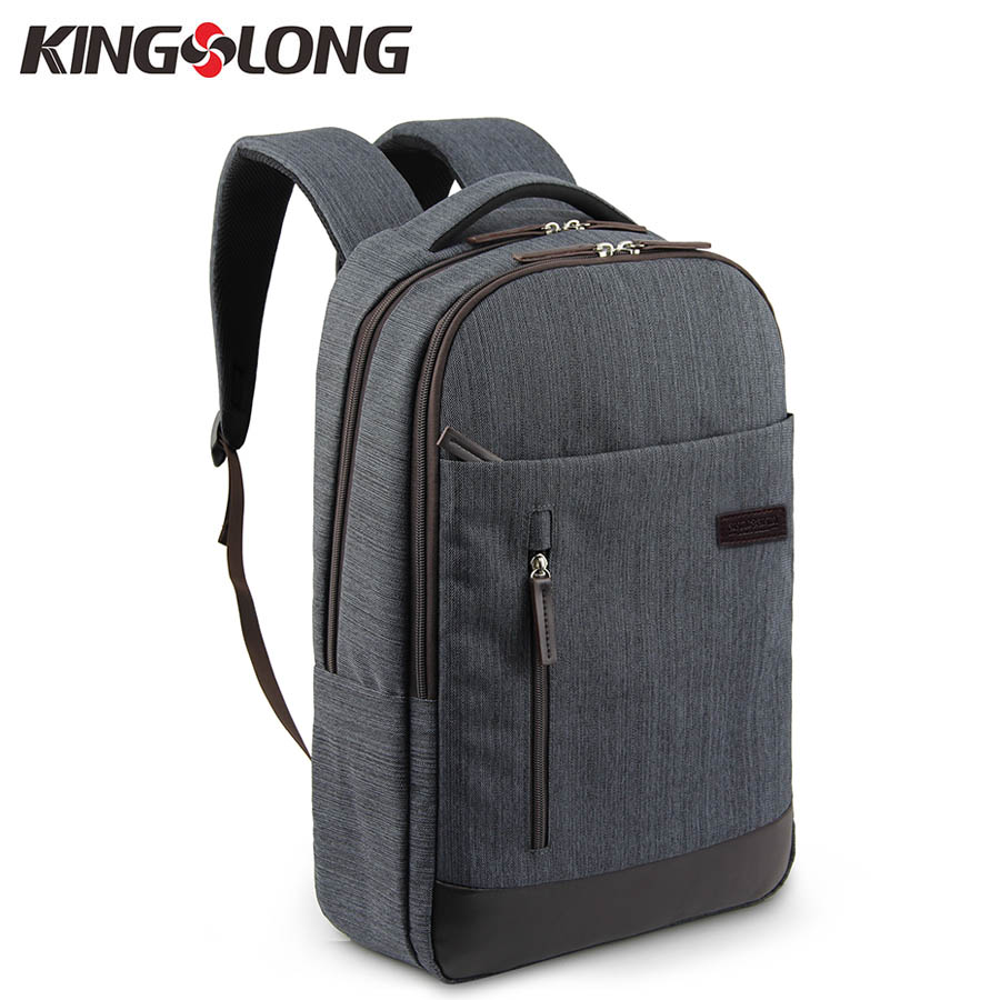 KINGSLONG Men Fashion School Backpack For Students Laptop Backpack For 15.6 Inch Casual  Male Female Rucksasck KLB11240-5