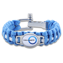 Hyung Pune Adjustable Type 2 Diabetic Medical Alert Paracord Bracelet Survival Bracelet For Men Women xmd037
